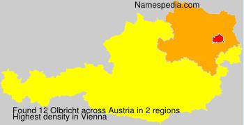 Surname Olbricht in Austria