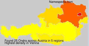 Surname Ondra in Austria