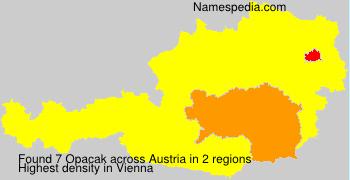 Familiennamen Opacak - Austria