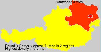 Familiennamen Opavsky - Austria