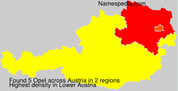 Surname Opel in Austria