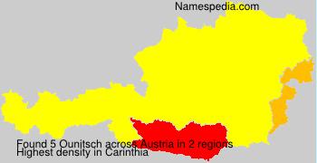 Surname Ounitsch in Austria