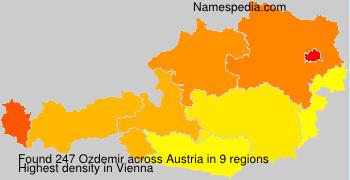 Surname Ozdemir in Austria