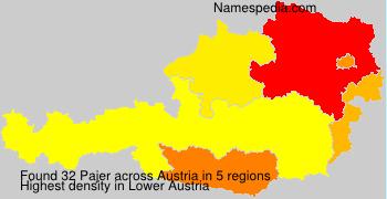 Surname Pajer in Austria