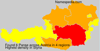 Surname Panse in Austria