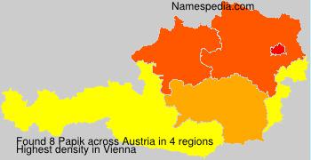 Surname Papik in Austria