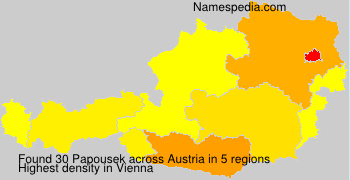 Surname Papousek in Austria