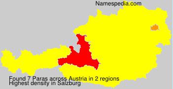 Surname Paras in Austria