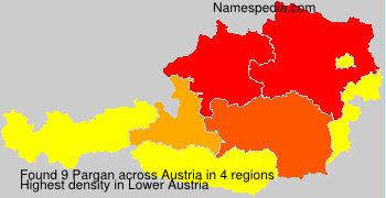 Surname Pargan in Austria