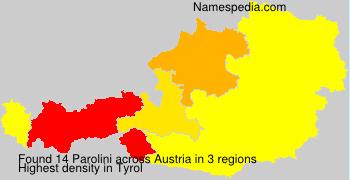 Surname Parolini in Austria