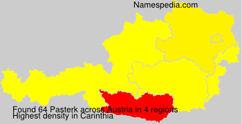 Familiennamen Pasterk - Austria