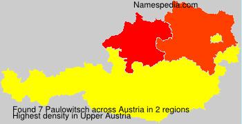 Surname Paulowitsch in Austria
