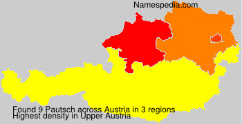 Familiennamen Pautsch - Austria