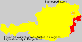 Familiennamen Pavitsich - Austria
