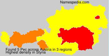Familiennamen Pec - Austria