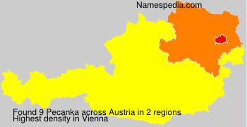 Familiennamen Pecanka - Austria