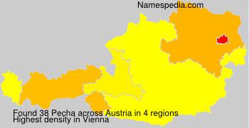 Familiennamen Pecha - Austria