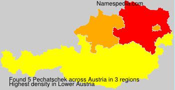 Familiennamen Pechatschek - Austria