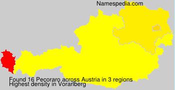 Surname Pecoraro in Austria