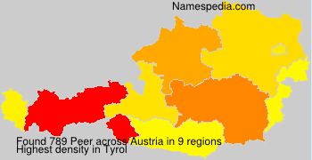 Surname Peer in Austria