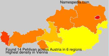 Familiennamen Pehlivan - Austria