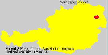 Surname Peklo in Austria