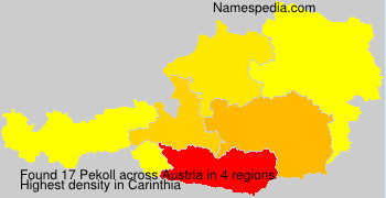 Familiennamen Pekoll - Austria
