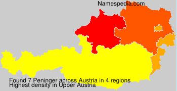 Surname Peninger in Austria