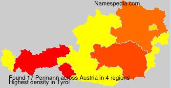 Surname Permann in Austria