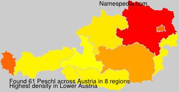 Familiennamen Peschl - Austria