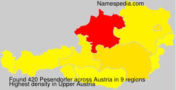 Surname Pesendorfer in Austria
