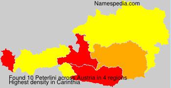 Familiennamen Peterlini - Austria