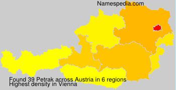 Surname Petrak in Austria