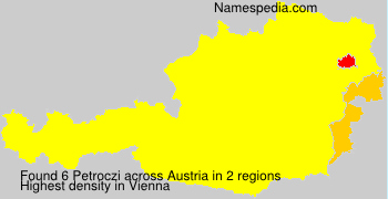 Familiennamen Petroczi - Austria