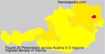 Surname Petronijevic in Austria