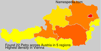 Surname Petry in Austria