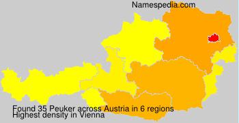 Surname Peuker in Austria