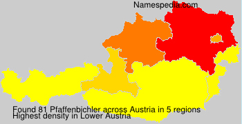 Surname Pfaffenbichler in Austria