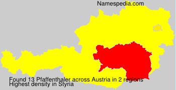 Surname Pfaffenthaler in Austria