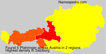 Surname Pfahringer in Austria