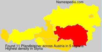 Surname Pfandlsteiner in Austria
