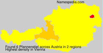 Surname Pfannenstiel in Austria