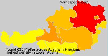 Surname Pfeffer in Austria