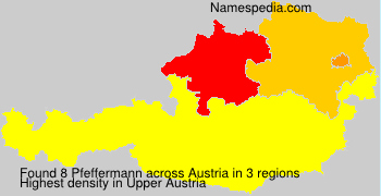 Surname Pfeffermann in Austria