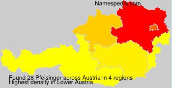 Surname Pfeisinger in Austria