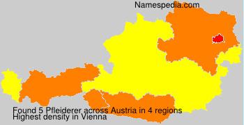 Surname Pfleiderer in Austria