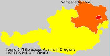Surname Philip in Austria