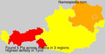 Familiennamen Pig - Austria