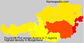 Familiennamen Pint - Austria