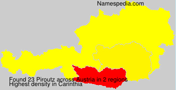 Familiennamen Piroutz - Austria